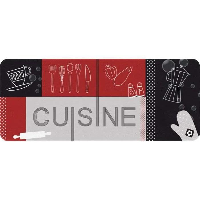 tapis de cuisine 50x120 cm cuisine rouge et