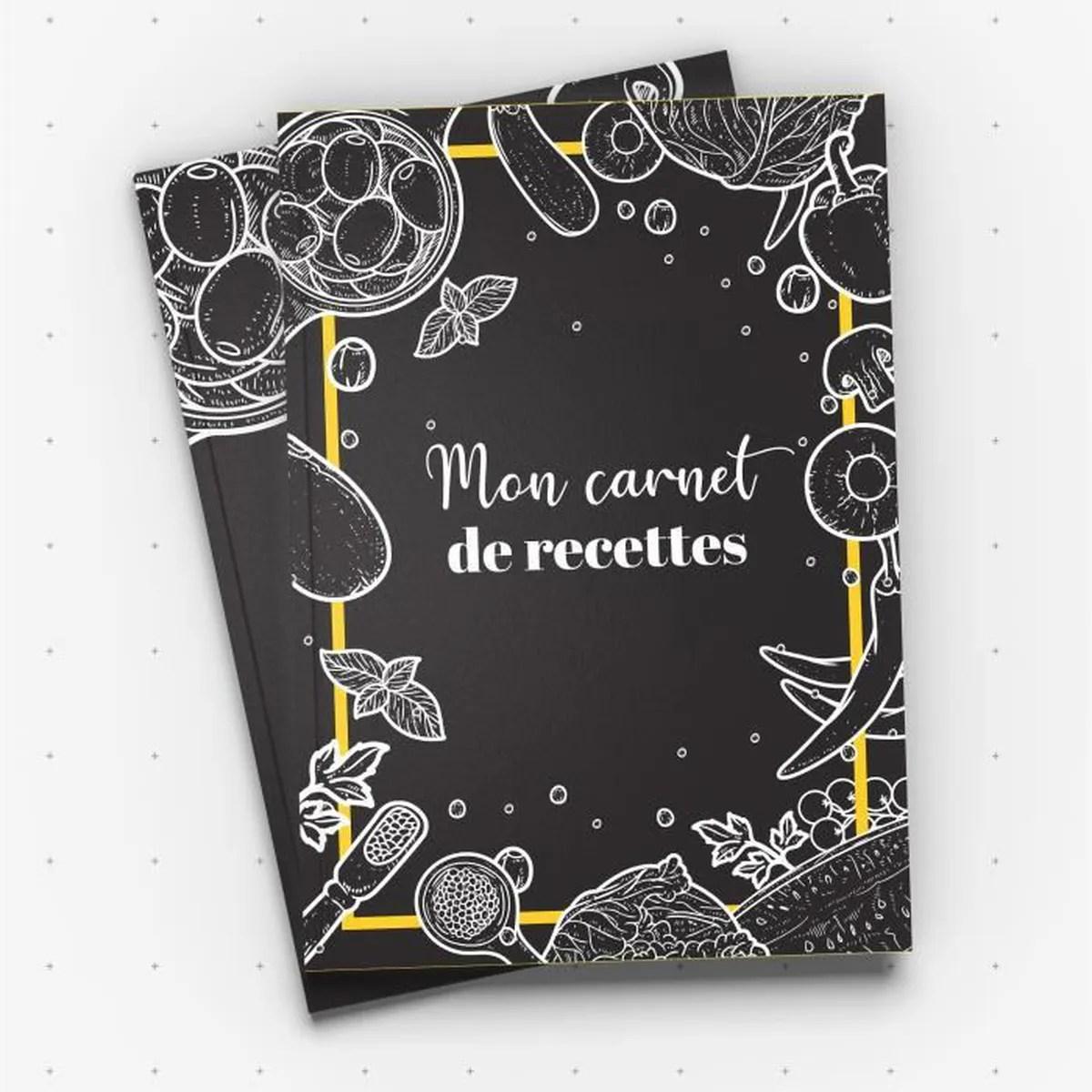 carnet de recettes livre de recettes a