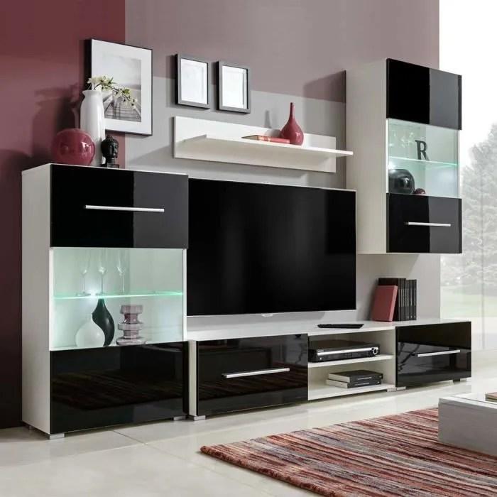 meuble tv mural contemporain 5 pcs 1 armoire mur
