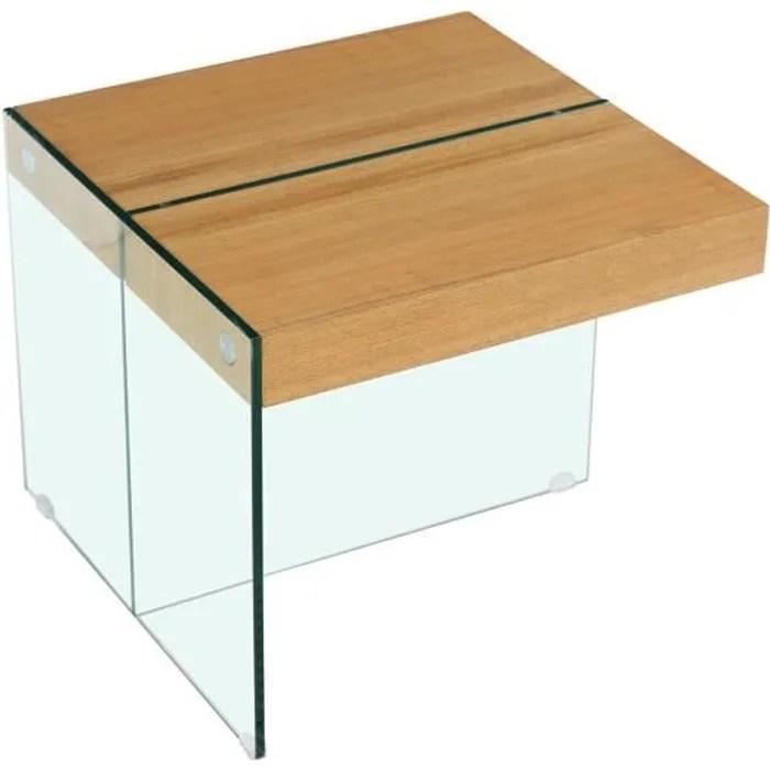 table basse agrigento 60 x 60 x 50 cm finition chene