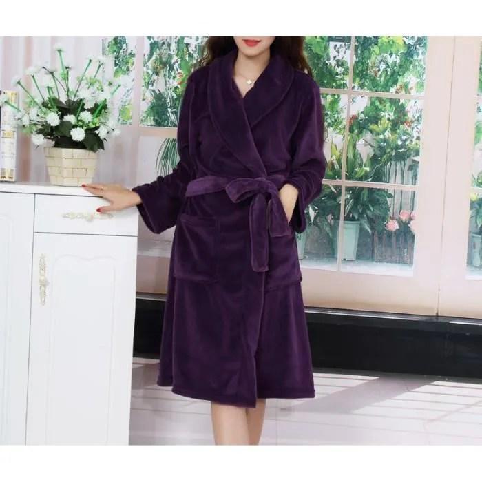 Robe De Chambre Femme Violette Achat Vente Robe De Chambre Cdiscount