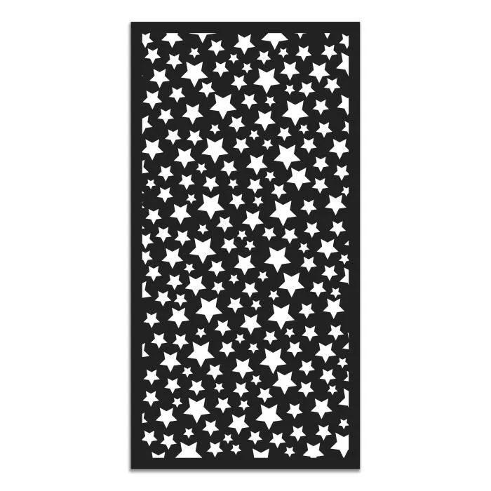 panorama tapis du sol vinyle etoiles noir 80 x 15