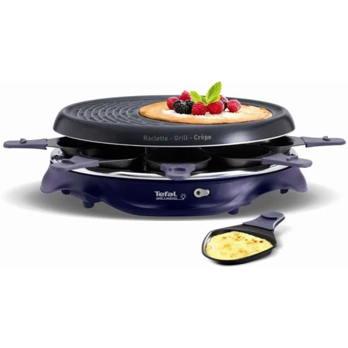 tefal re511412 appareil a raclette simply invents 8 personnes violet