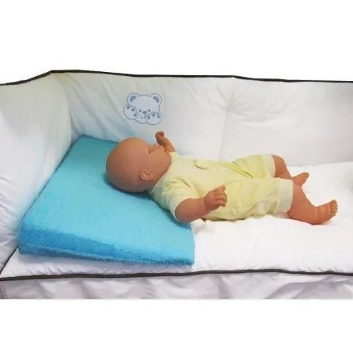 looping cale bebe plan incline en ponge dehoussable pour lit bebe bleu lagon