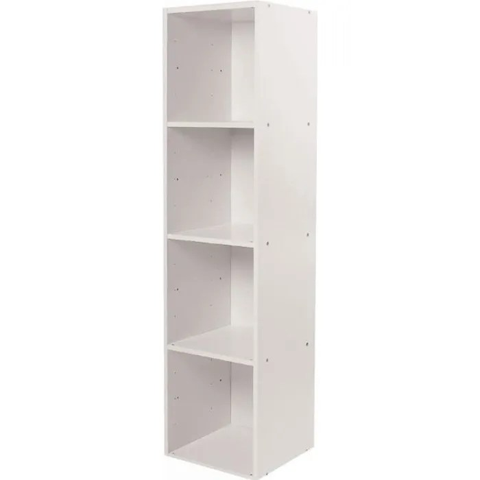 meuble 4 cases avec fond 32 x 30 x 125 cm blanc