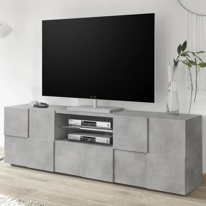meuble television moderne couleur beton sandrea 4