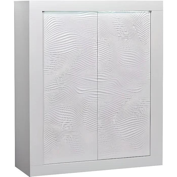 karma meuble de rangement 2 portes laque blanc