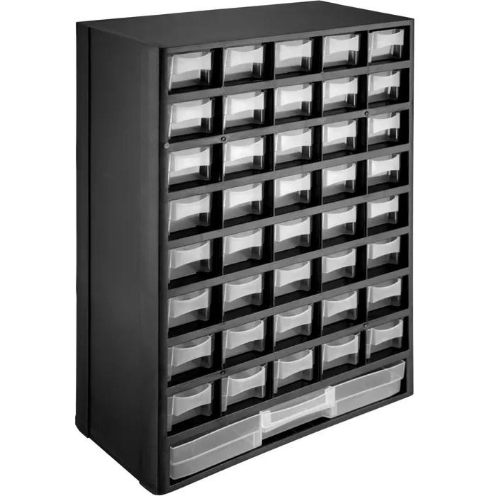 tectake casier a vis 41 tiroirs etagere caisse de