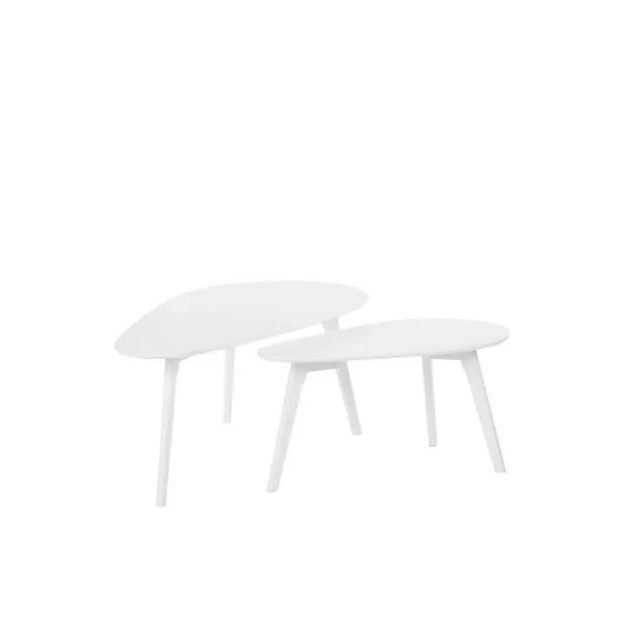 lot de 2 tables basses blanches fly iii