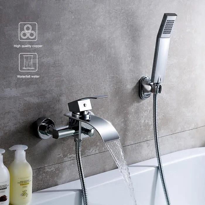 kinse robinet mural de baignoire cascade avec dou