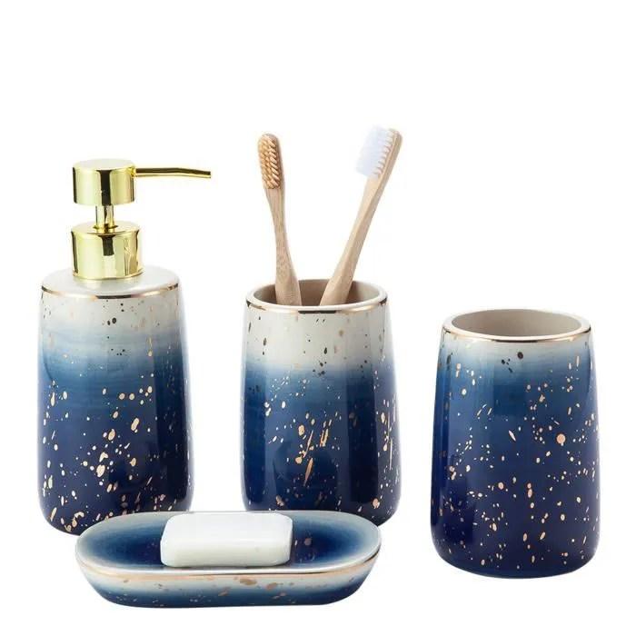 accessoires de salle de bain en ceramique ensemb
