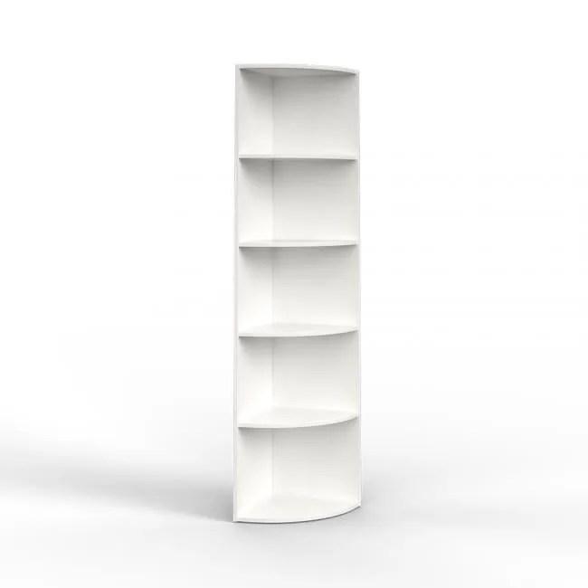 meuble etagere etagere d angle blanc