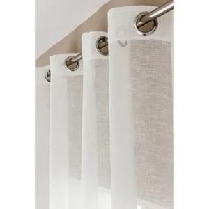 polyester effet lin hauteur cm 320