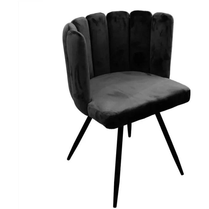 chaise ariel revetement en velours