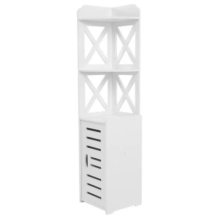 armoire de salle de bain meuble d angle panneau en plastique organisateur de rangement rack etagere meubles de maison bob