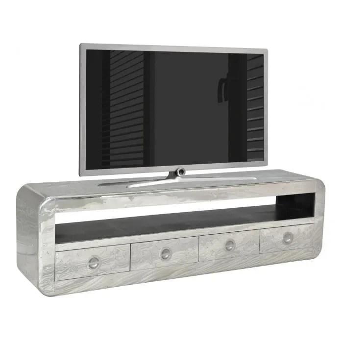 meuble tv design 200x56 cm en bois et