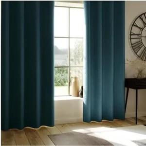 rideau bleu canard atmosphera