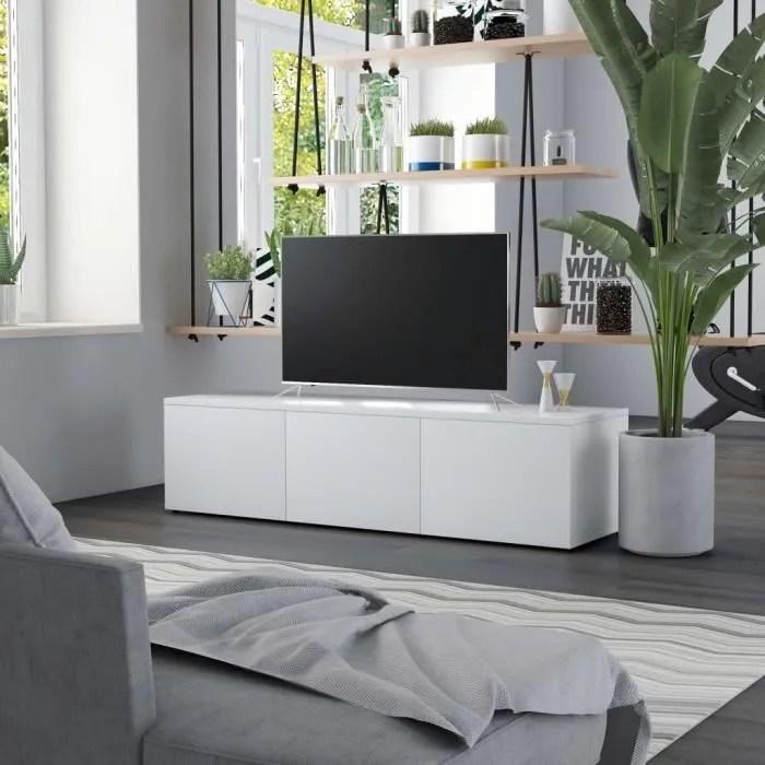 meuble tv meuble salon blanc et gros