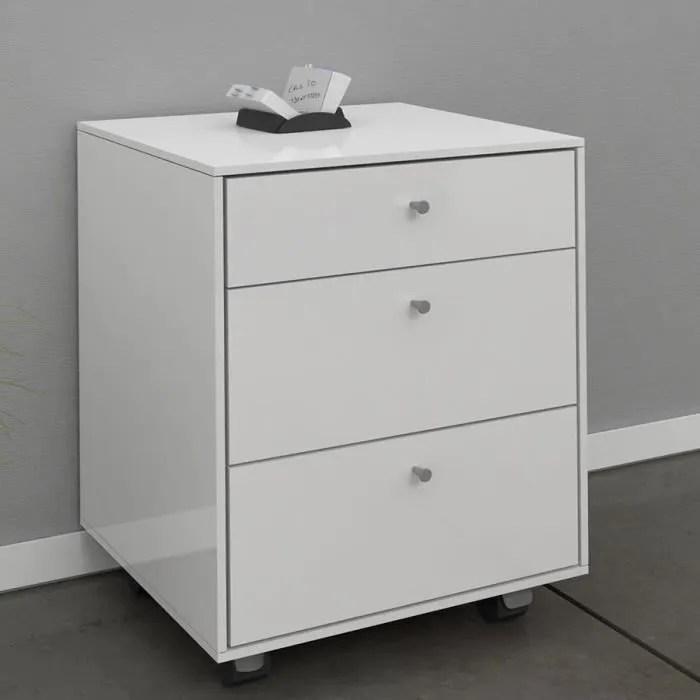 caisson de bureau adulte couleur blanc