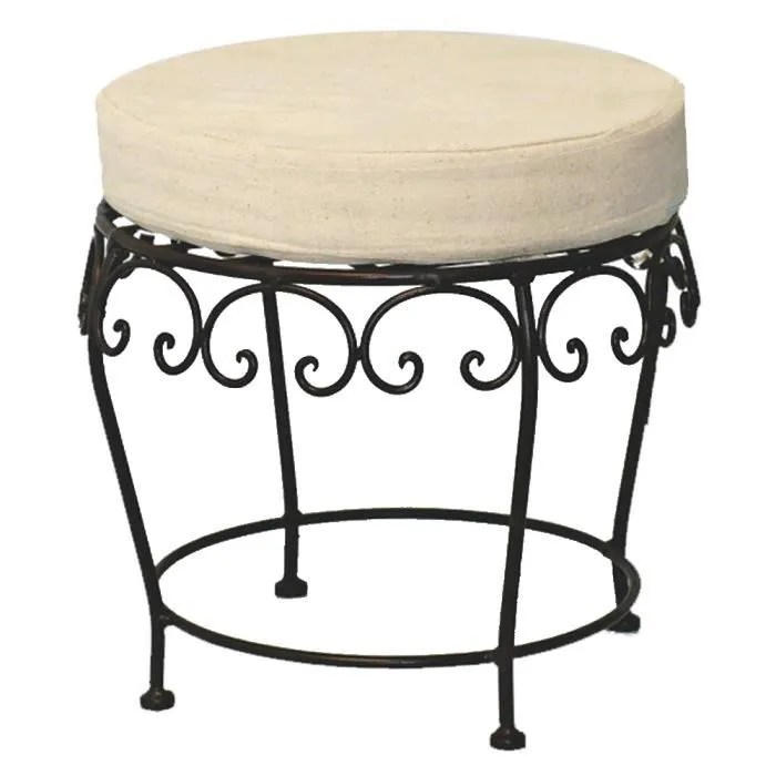 tabouret pouf fer forge charme achat