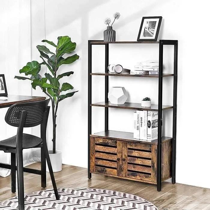 vasagle bibliotheque meuble de rangement style i
