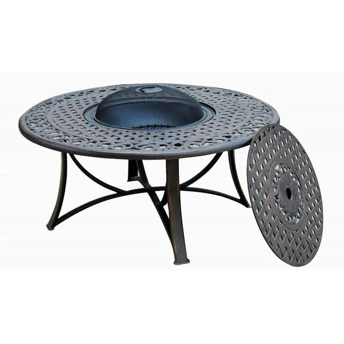 salon de jardin table basse ronde 4