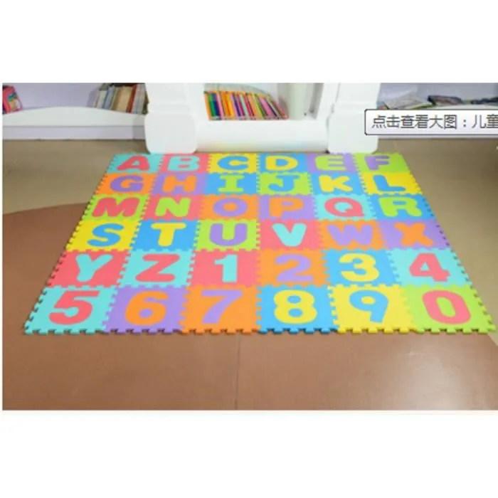puzzle tapis mousse jeu educatif alphabet chiffr