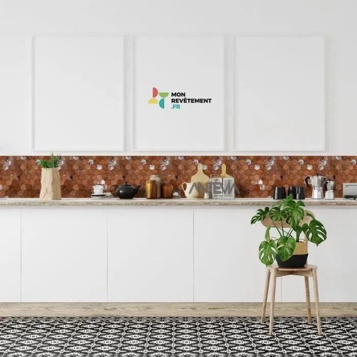 Antevia France Carrelage Mural Adhesif Finition Metal Lot 6 Pieces 20 Motifs Au Choix Cuisine Hexagone Marron Achat Vente Credence Care Adhe Hexa Marron Cdiscount