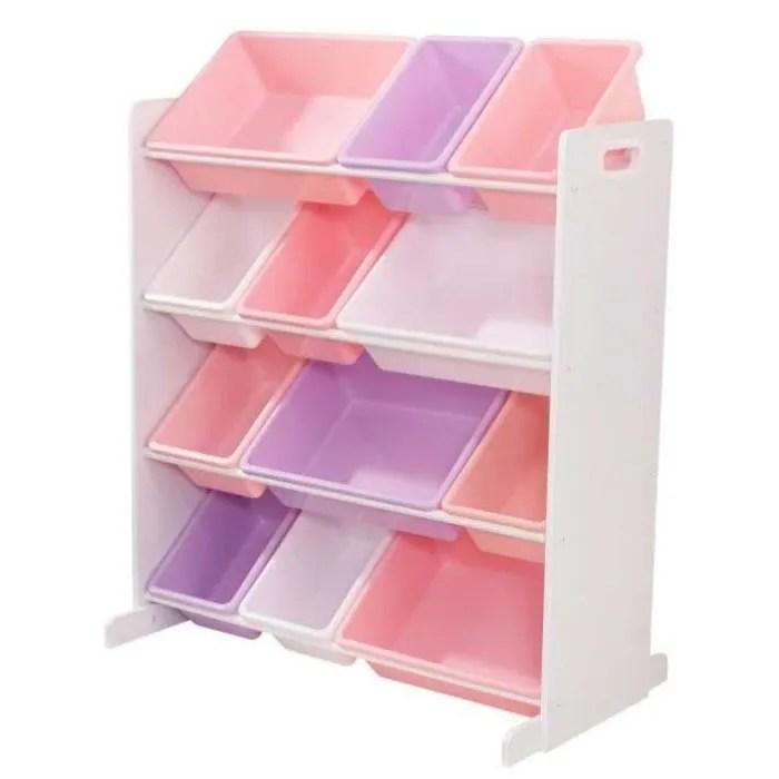 kidkraft meuble de rangement enfant avec casiers pastel
