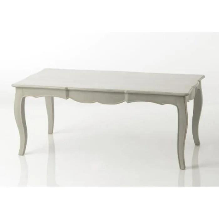 table basse chic rectangulaire en bois gris arbalette gris