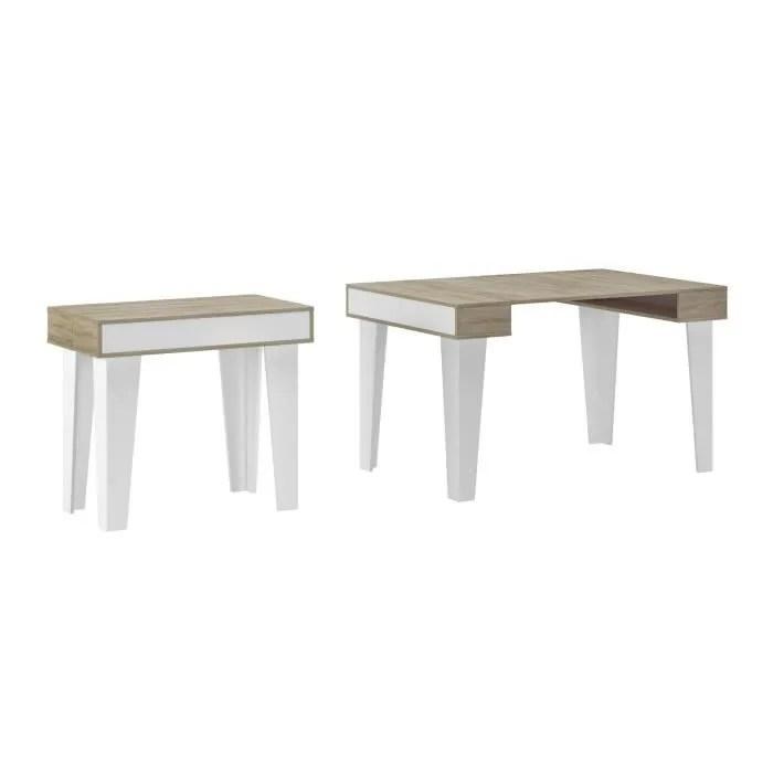 table console extensible rectangulaire avec rallo