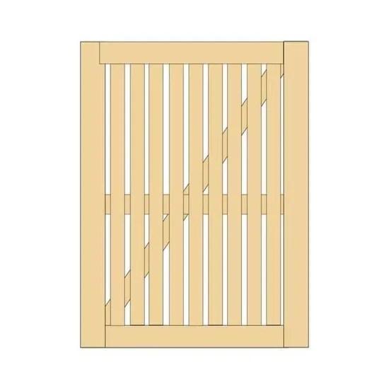 portillon ostend en bois 180 x 100 cm