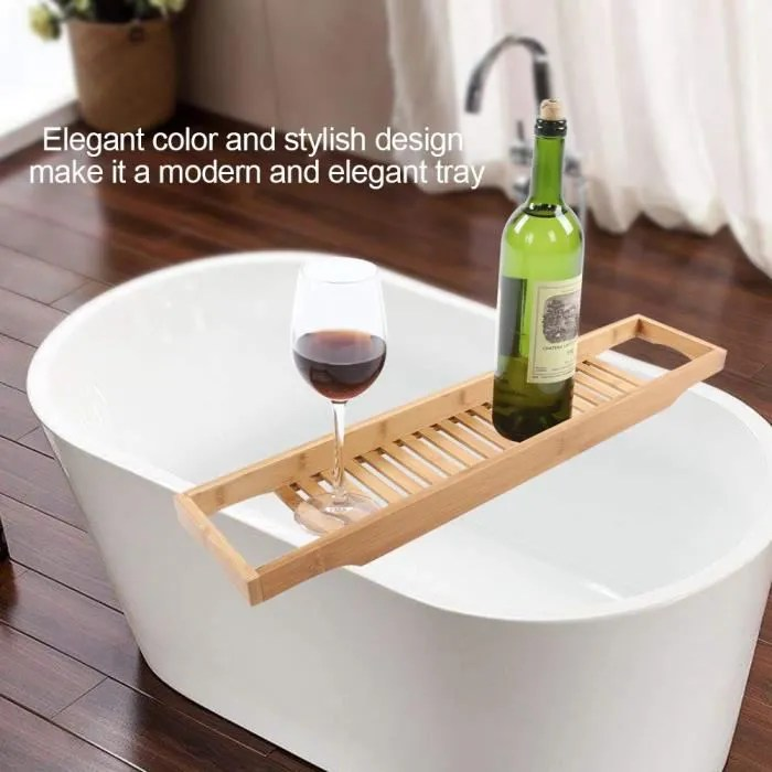 bain en bois moderne en bambou support