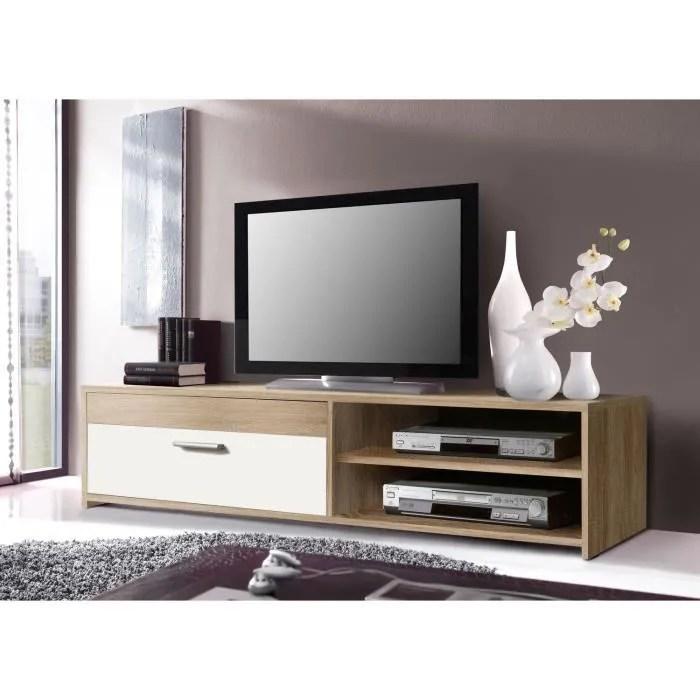 pilvi meuble tv 120 cm chene blanc