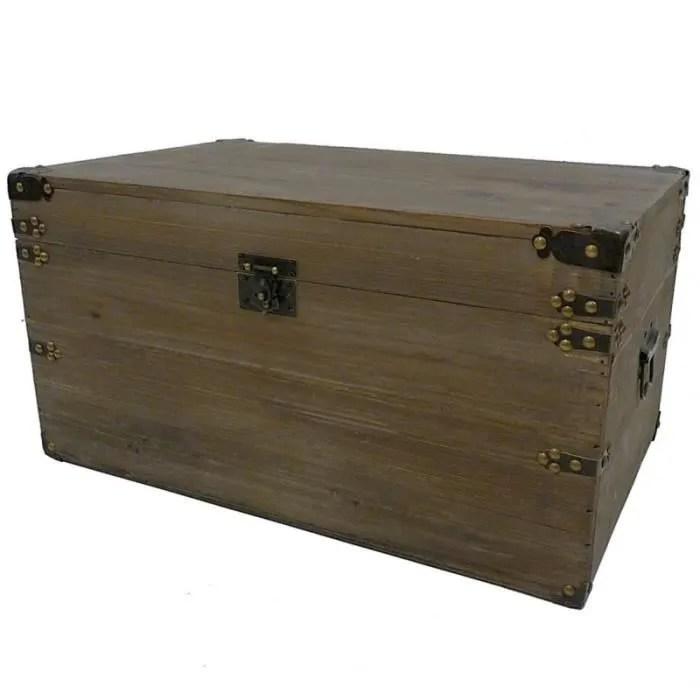 malle style ancienne coffre de rangement a jouets bar range bouteilles en bois 28x34x54cm