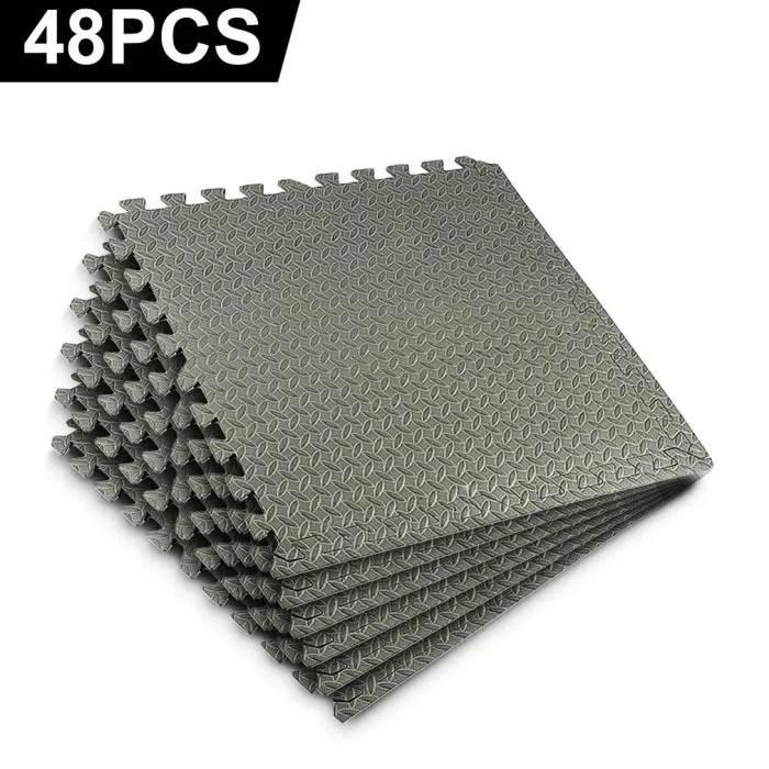 ensemble de 48 dalles carrees eva tapis de sol