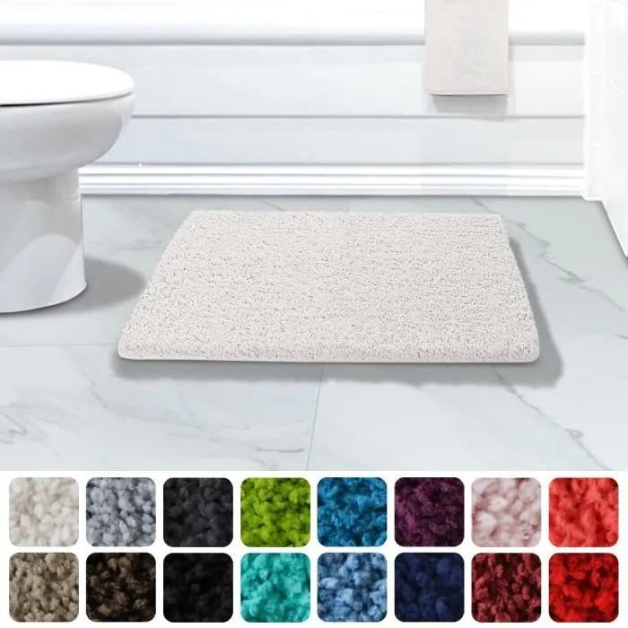 tapis de bain absorbant casa pura blanc 70x120 c