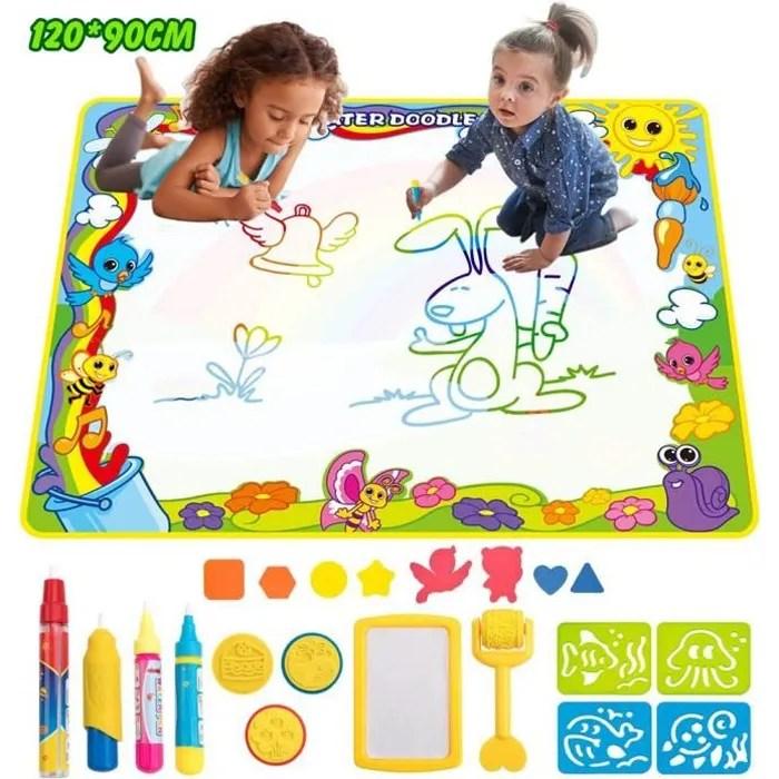 tapis doodle mat enfant 120 90cm tapis de dessin p