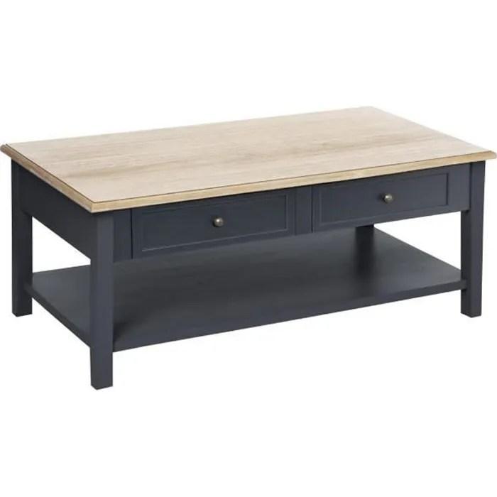 atmosphera table basse en bois 4 tiroirs damian h 45 cm atelier d hiver gris fonce