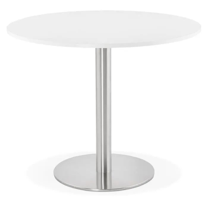 petite table ronde blanche