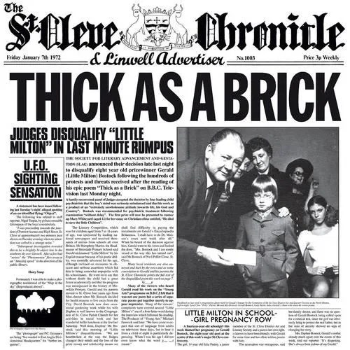 Jethro Tull - Thick as a Brick - Achat CD cd pop rock - indé pas cher -