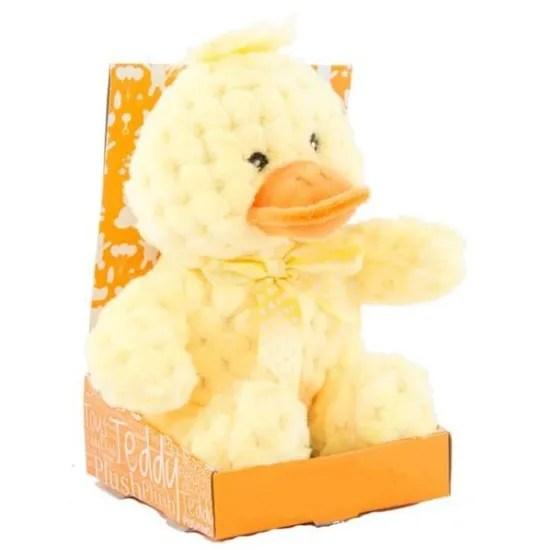 peluche canard jaune assis 17 cm