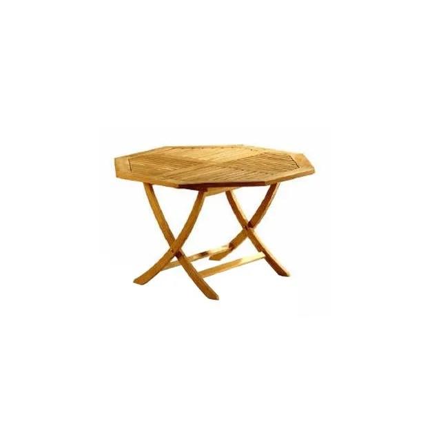 table pliante octogonale en teck