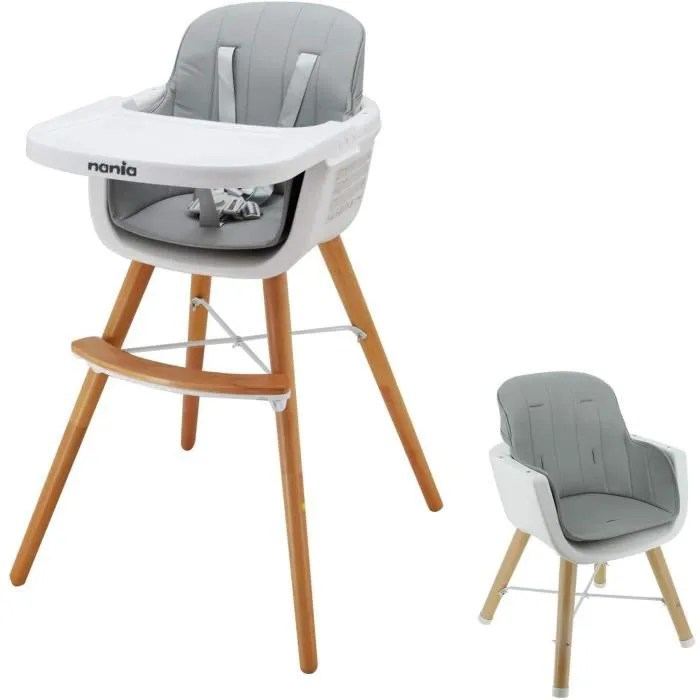 nania luna chaise haute evolutive 2 en 1