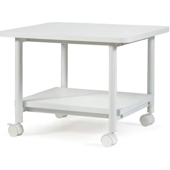 support d imprimante de rangement support d ordinateur portable multifonction equipe roues de verrouillage pour bureau maison