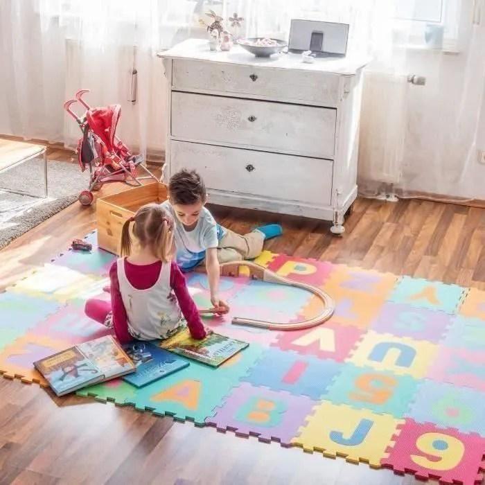 32 32cm chiffres lettres tapis de mousse jouet pou