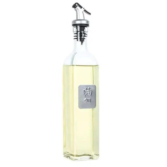 ar2583 17oz verre huile d olive bouteille ensemble 500ml huile et vinaigre cruet avec verseurs et entonnoir carafe carafe pour