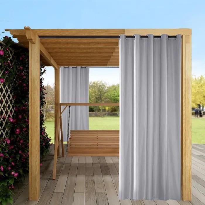 2pcs interieur exterieur rideaux uv proteger patio