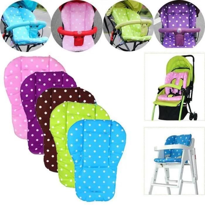 2pcs coton coussin d assise siege pour poussette bebe confortable pram poussette coussin