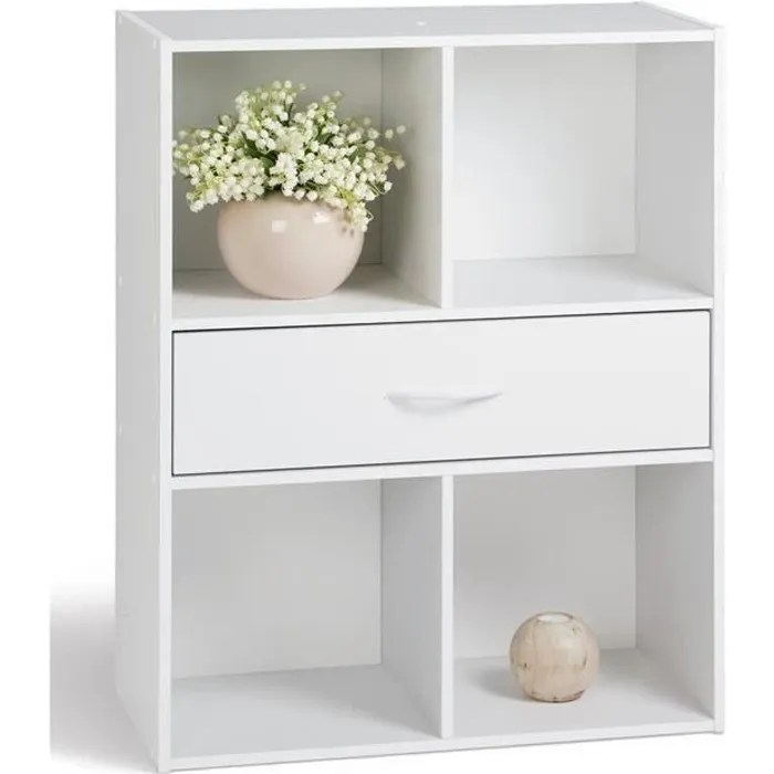 compo meuble de rangement contemporain blanc l 6